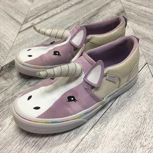 Vans | Girls Unicorn Purple Vans Slip On Sneakers